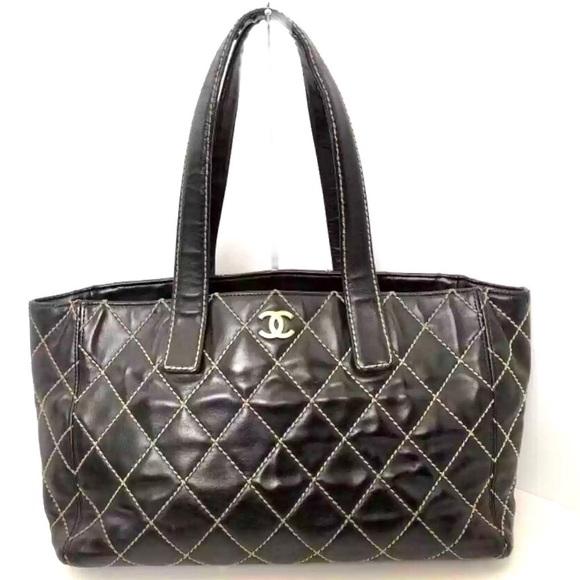 7358e34afc0f5f CHANEL Bags | Authentic Cc Lambskin Large Tote Handbag | Poshmark
